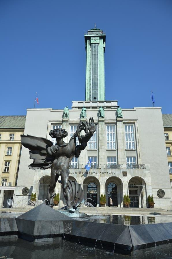 Башня ратуши Остравы стоковая фотография