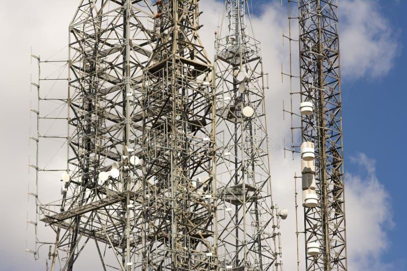 Башня радиосвязи стоковые изображения rf
