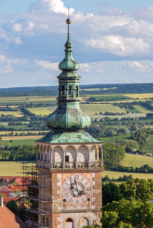 Башня ренессанса St Vaclav церков стоковые изображения