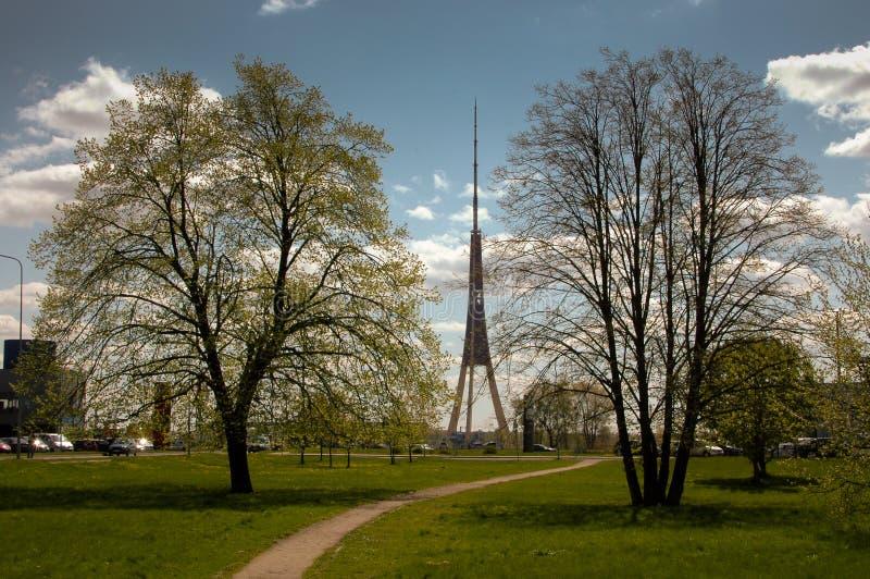 Башня Риги TV стоковое изображение