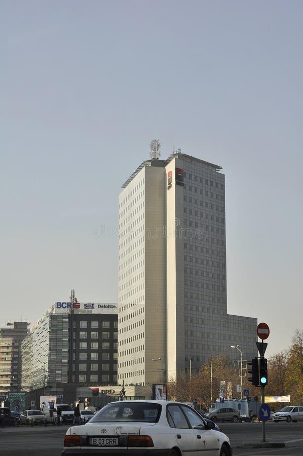 Башня Румыния BRD Groupe Societe Generale стоковая фотография rf