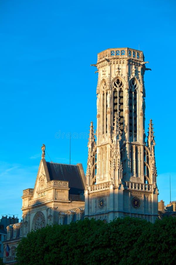 башня святой Франции jacques paris стоковое изображение rf