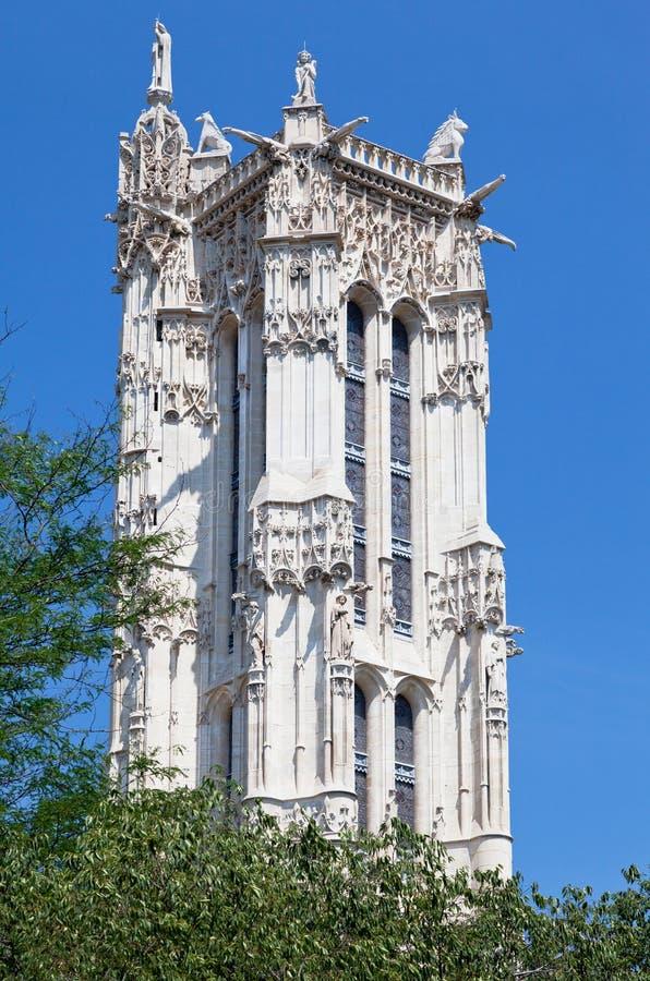 башня святой Франции jacques paris стоковая фотография