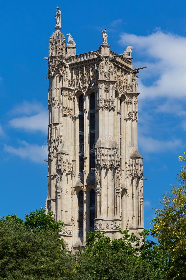 Башня Свят-Jacques в Париже, Франции стоковая фотография
