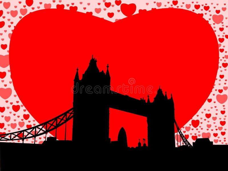 башня сердец моста иллюстрация штока