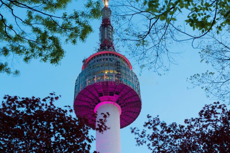 Башня Сеула стоковое изображение