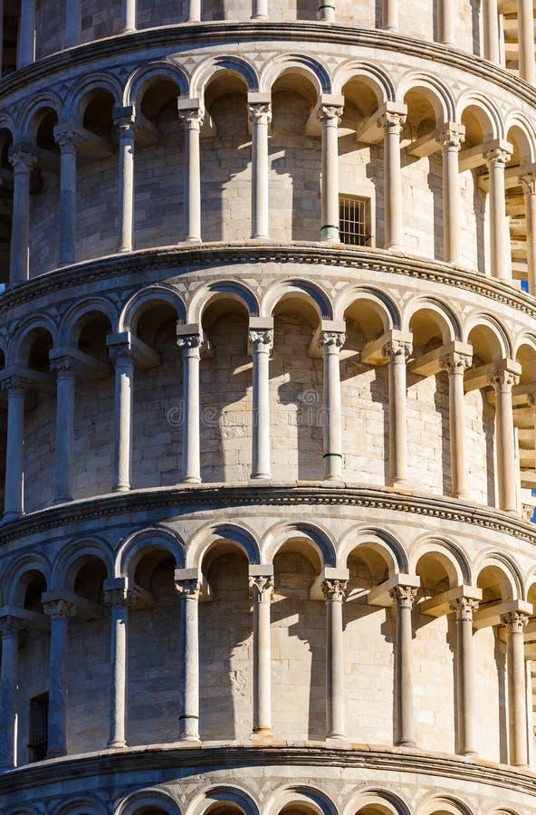 Башня склонности в Пизе Италии стоковые изображения rf