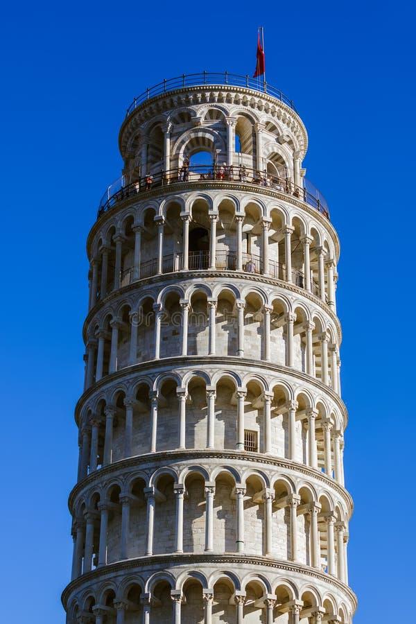 Башня склонности в Пизе Италии стоковые изображения