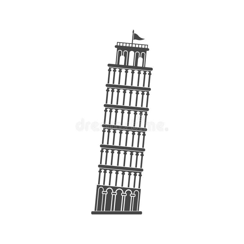 Башня склонности значка Пизы бесплатная иллюстрация