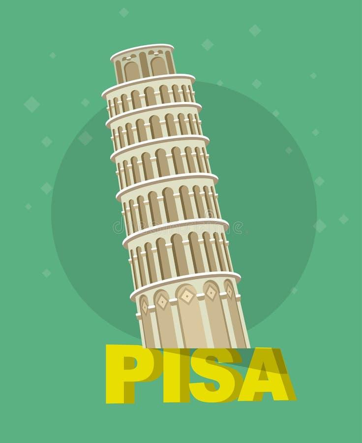 Башня склонности, Пиза, Италия, Европа бесплатная иллюстрация