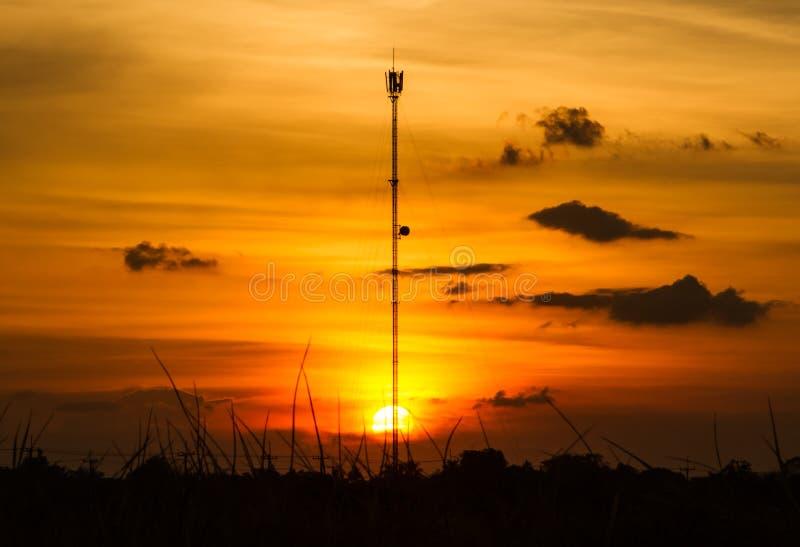 Башня сотового телефона стоковое фото