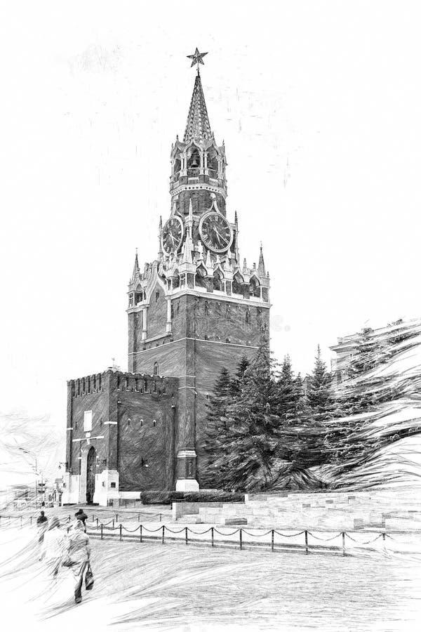 башня спасителя moscow бесплатная иллюстрация