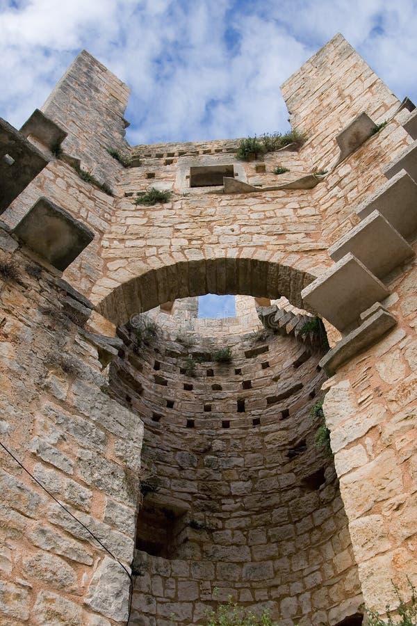 Башня старого mediaval замка стоковые изображения rf