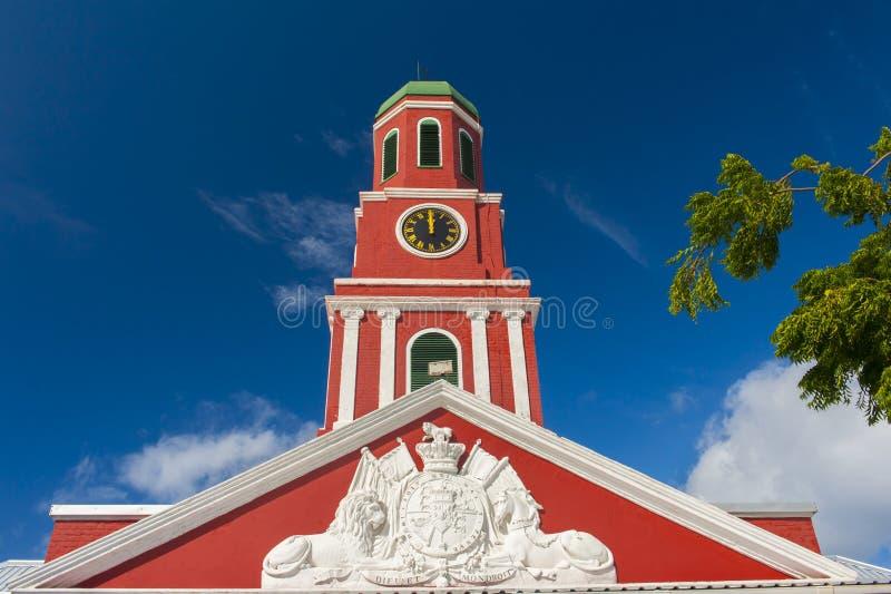 Башня с часами Барбадос стоковое фото rf