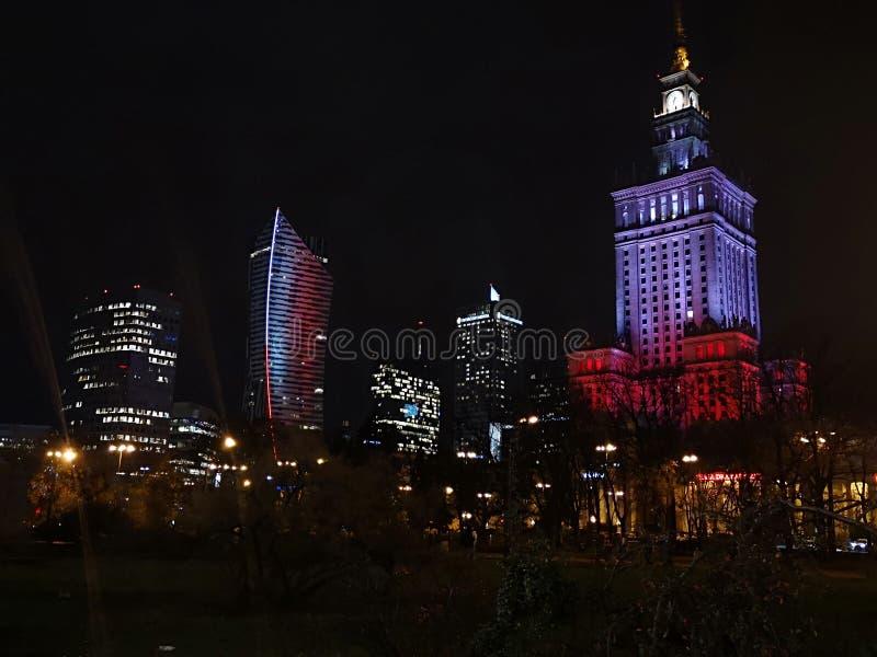 Башня с часами, Варшава, Польша стоковое фото rf