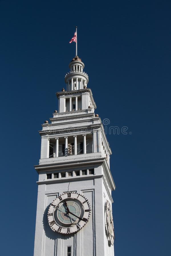 Башня с часами вокзала в Сан-Франциско стоковое изображение