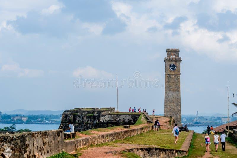 Башня с часами в Галле стоковая фотография rf