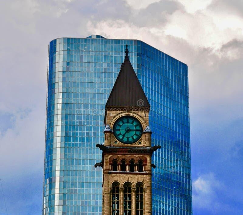 Башня с часами в Торонто стоковое изображение