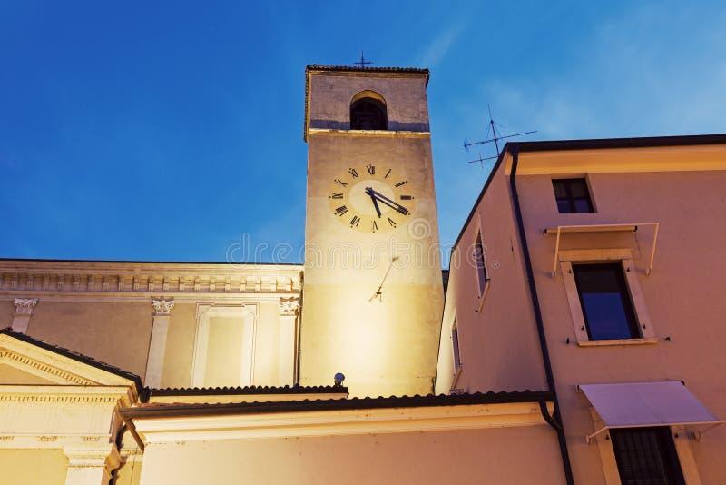 Башня с часами в Desenzano del Garda стоковые фотографии rf