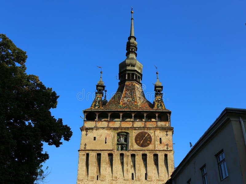 Башня с часами в Sighisoara, Румынии стоковое фото