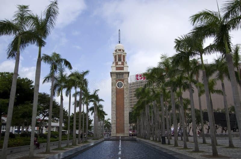Башня с часами Гонконг стоковое фото