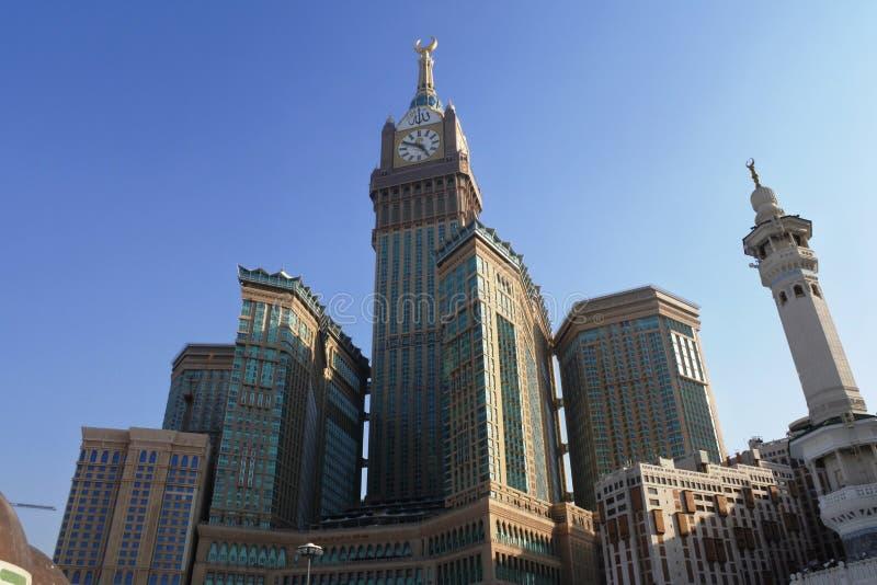 Башня с часами гостиницы мекки королевская стоковое изображение