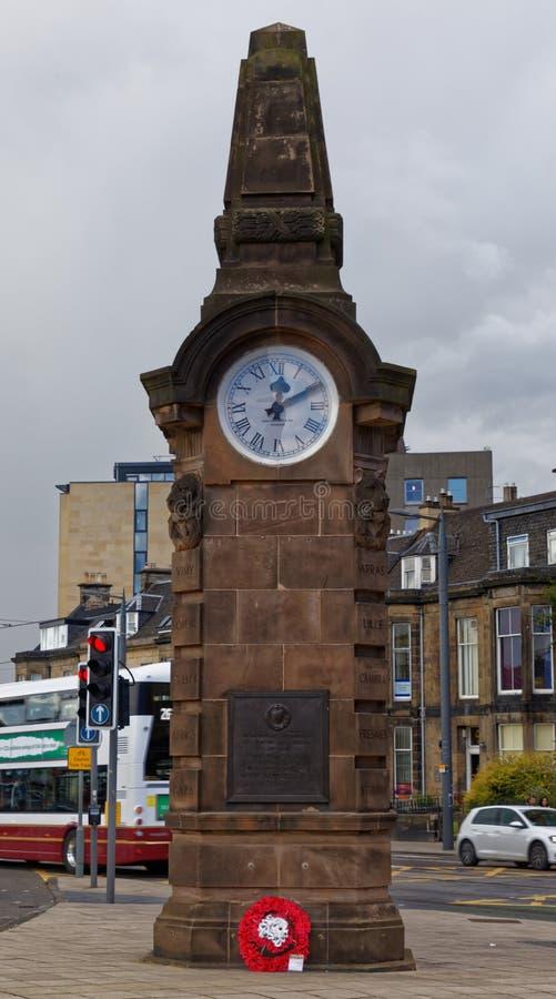 Башня с часами клуба футбола Heart Of Midlothian стоковое фото rf