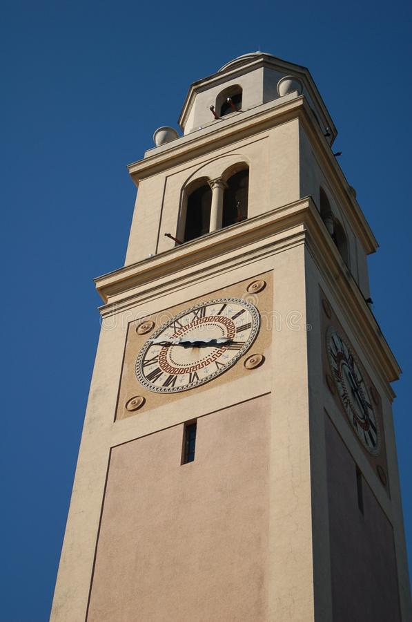 Башня с часами на государственном университете Луизианы стоковое изображение rf