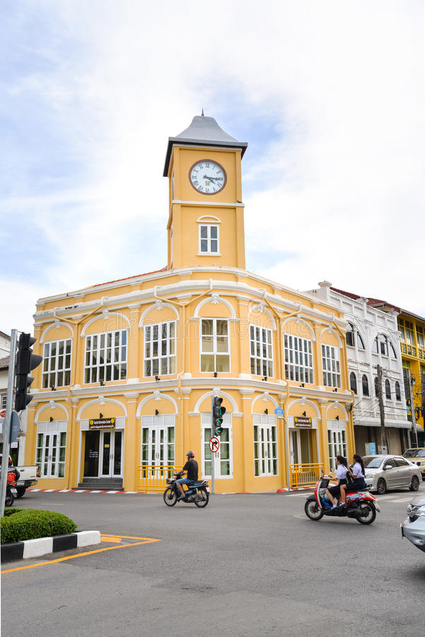 Башня с часами, Пхукет, Таиланд стоковое фото