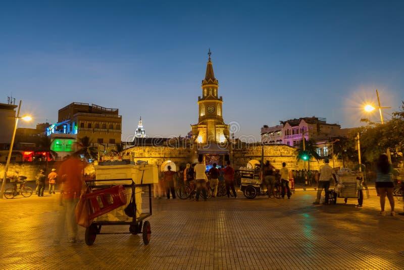 Башня с часами Cartagena стоковые фото