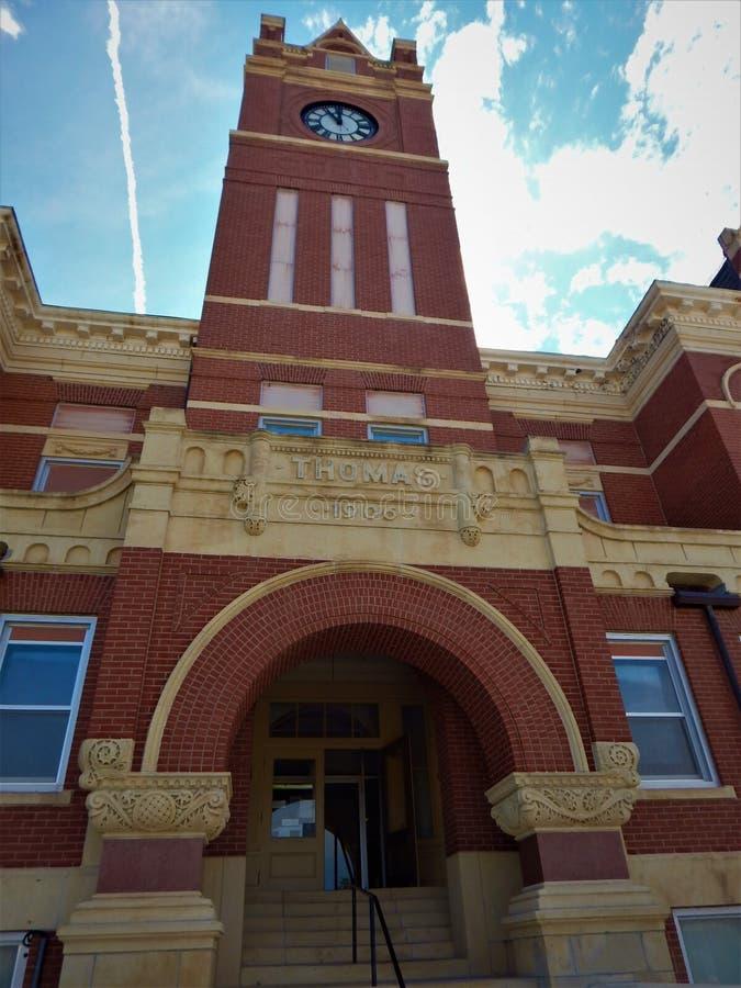 Башня с часами Colby Канзаса здания суда Thomas County стоковые изображения rf