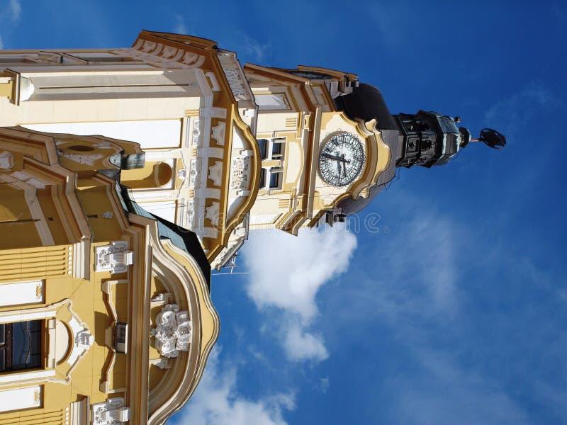Башня с часами, Pécs, Венгрия стоковая фотография rf
