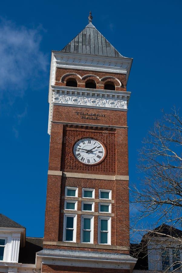 Башня с часами Tillman Hall стоковое фото rf