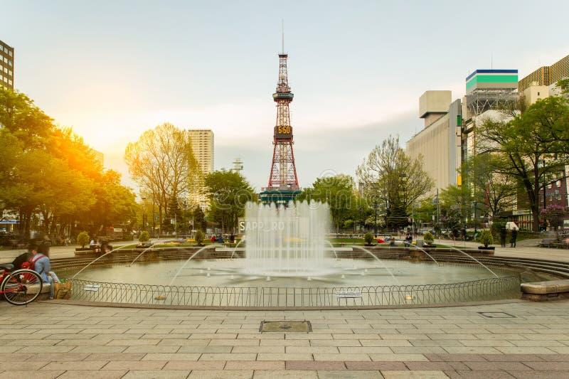Башня ТВ Саппоро в Саппоро, Хоккаидо, Японии стоковая фотография rf