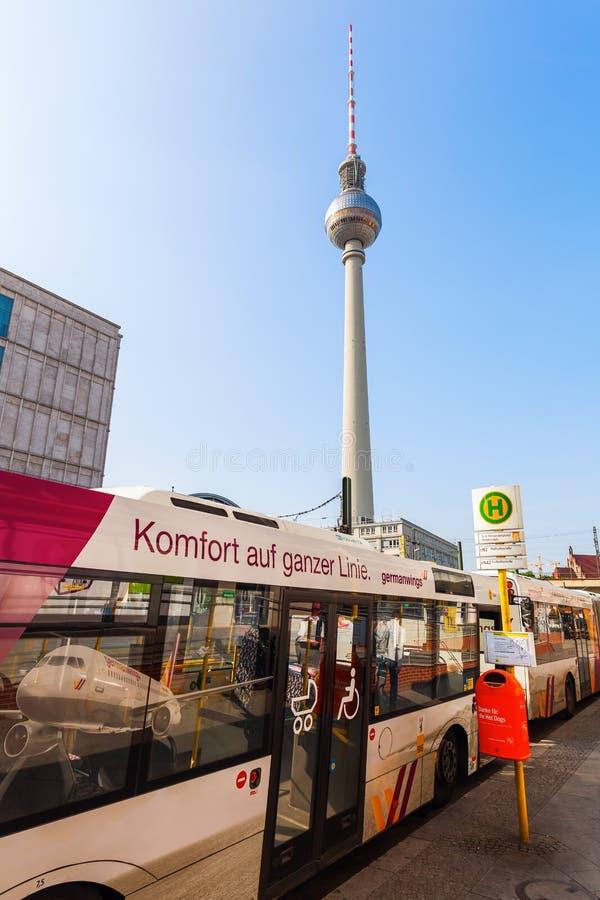башня телевидения berlin Германии стоковые фотографии rf
