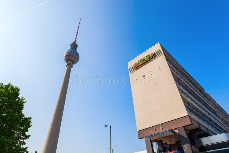 башня телевидения berlin Германии стоковые изображения
