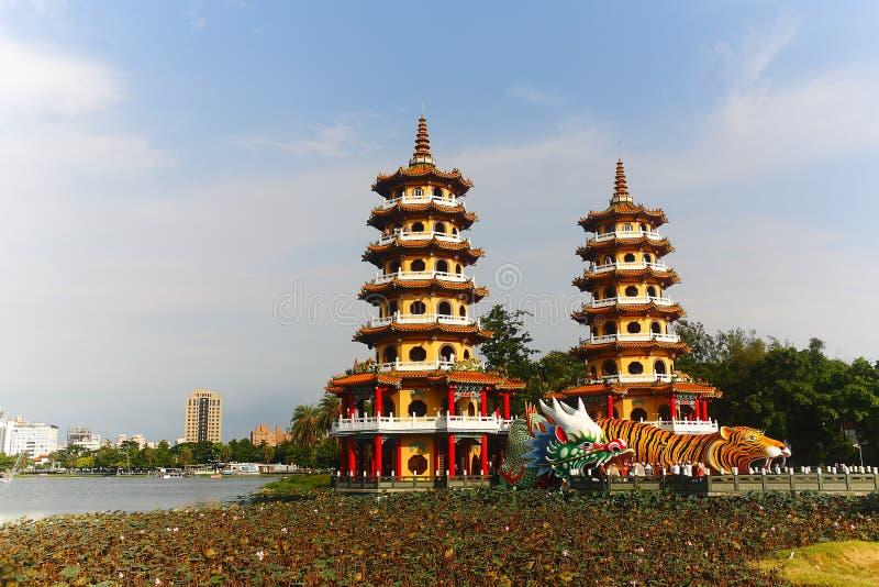 Башня тигра дракона в Тайване стоковая фотография rf