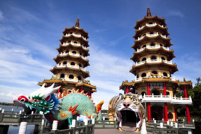 башня тигра дракона известная стоковые фотографии rf