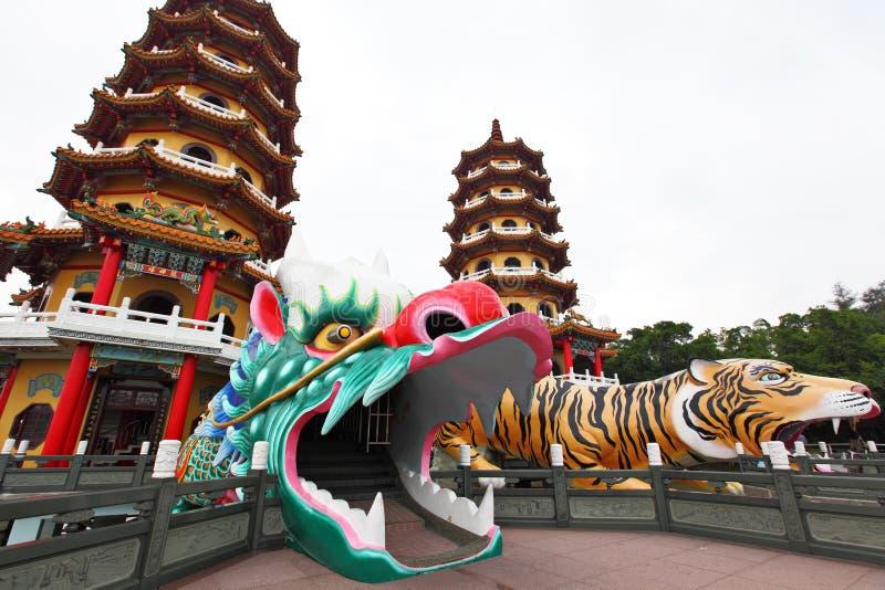 башня тигра дракона стоковое изображение rf