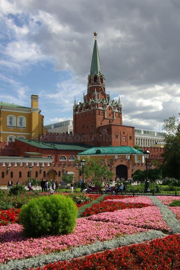 Башня троицы Москвы Кремля стоковое изображение