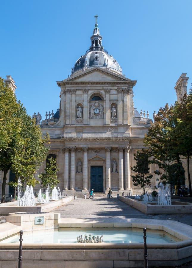 Башня университета Sorbonne в Париже стоковая фотография rf