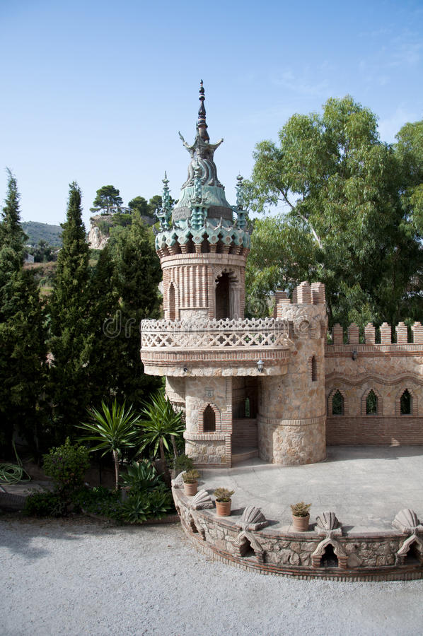 башня фантазии стоковое изображение