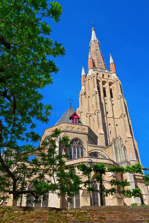 Башня Церков нашей повелительницы стоковое фото rf