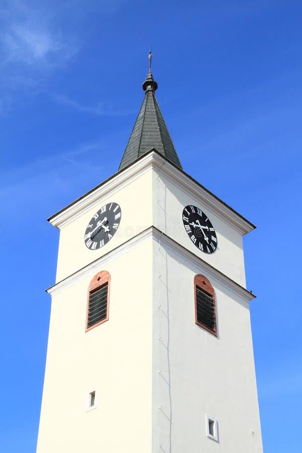 Башня церков рождения девой марии стоковое изображение rf