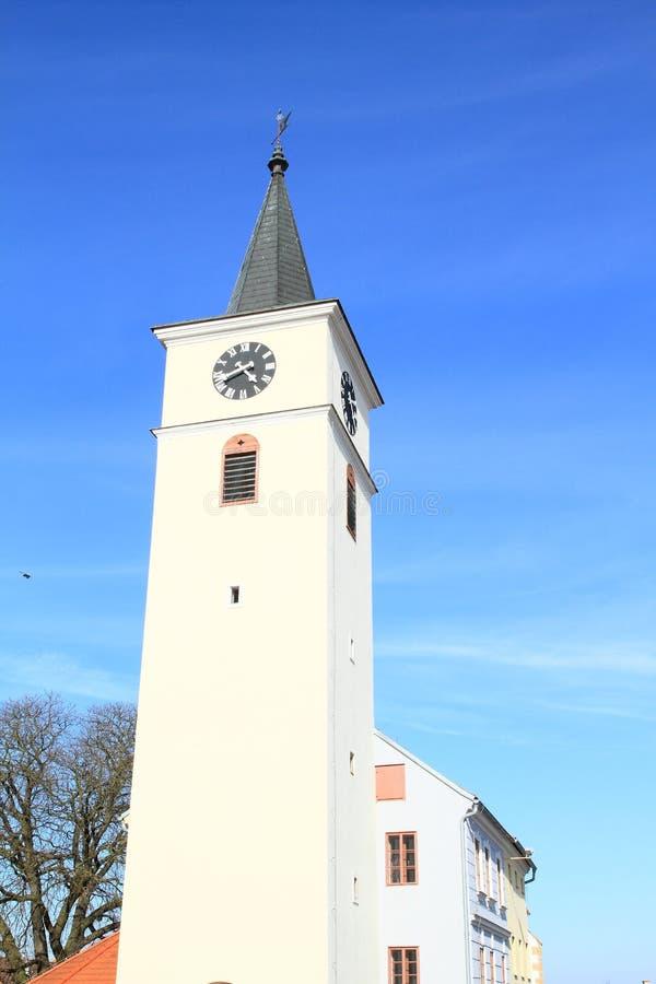 Башня церков рождения девой марии стоковые изображения rf