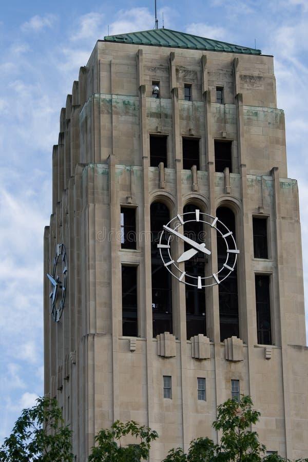 башня часов Ann Arbor стоковое изображение