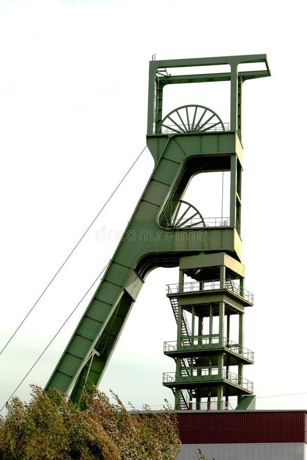 башня шахты headgear угля стоковое фото
