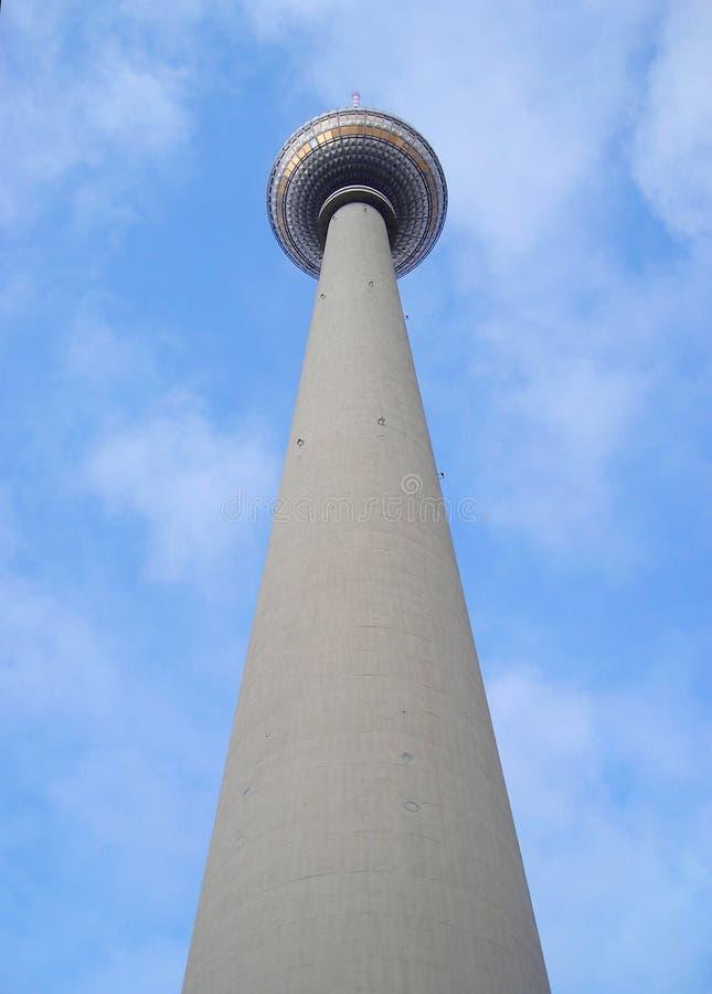 Башня Alexanderplatz стоковые изображения rf