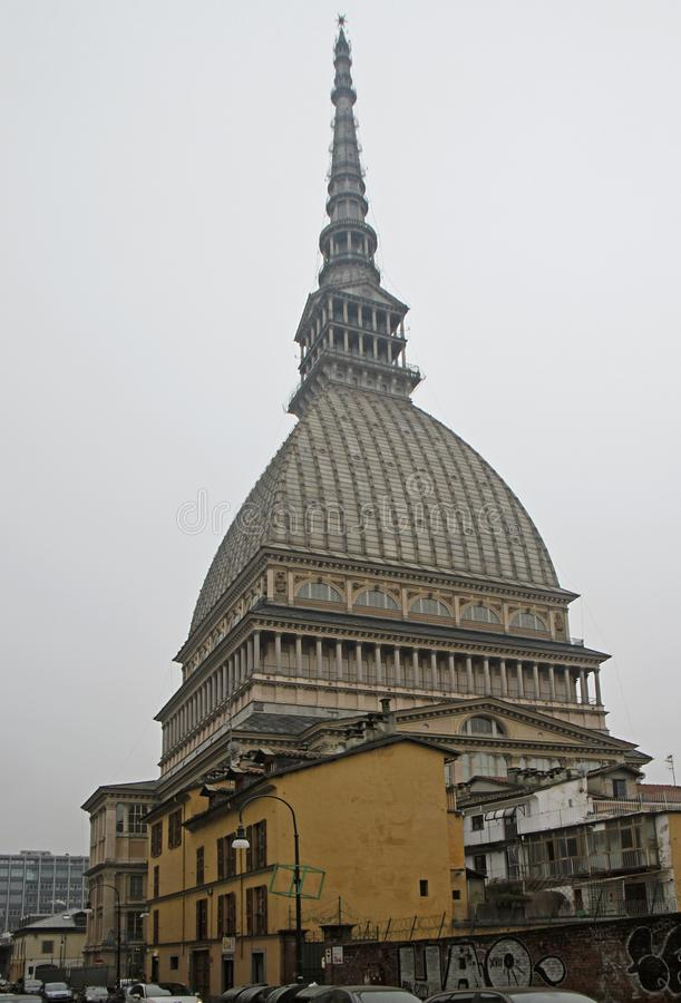 Башня Antonelliana моли в Турине, simbol города стоковое фото