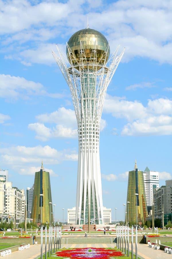 башня bayterek astana стоковые изображения rf